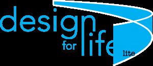 Design for life lite logo blue