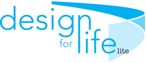 Design for life lite logo blue